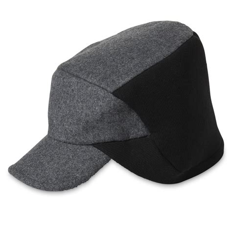 blending short layered crown with cold f usion dockers men s wool blend ear warmer hat shop your way