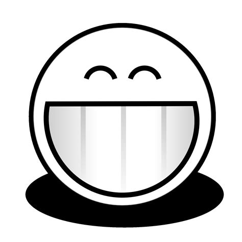 Smile White 15 black and white smiley pictures ideas black and