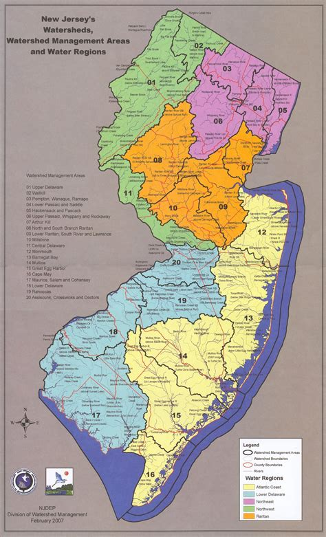 map of new area new jersey watershed management areas raritan rutgers edu