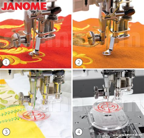 Janome Free Motion Quilting by Convertible Free Motion Quilting Foot Set For Machines