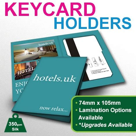 Hotel Key Card Holder Template by Key Card Holders Better Printing Uk
