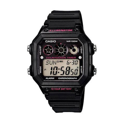 Casio Original Pria Ae 1300wh 1a2 jual casio ae 1300wh 1a2 digital jam tangan pria