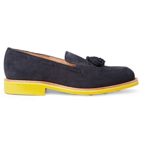 mcnairy loafers mcnairy new amsterdam contrastsole suede tasselled
