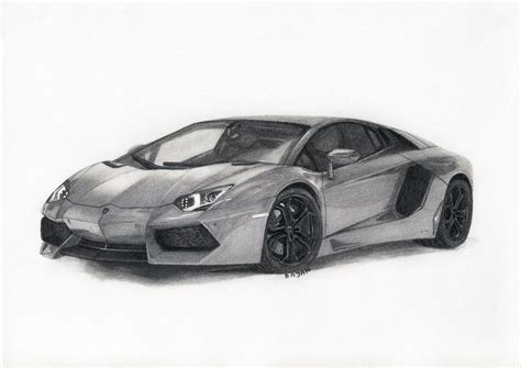 lamborghini drawing lamborghini aventador by bajan art on deviantart