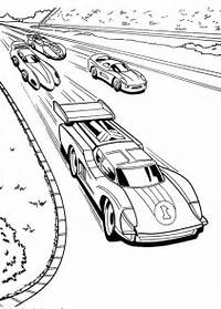 Coloring Page Of Race Car For Free