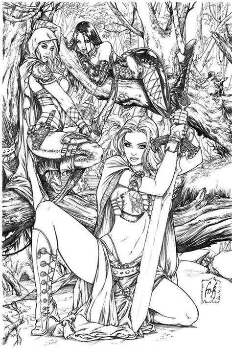 Grimm Universe by Kromespawn @ Deviantart   Adult coloring