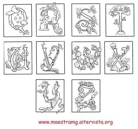 lettere miniate alfabeto seconda classe lingua italiana maestra mg
