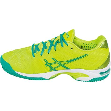 asics gel solution speed 2 clay s tennis shoe yellow