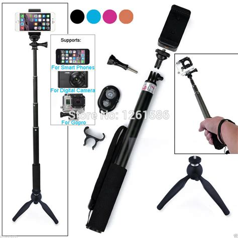 Tongkat Selfie Tongsis Bluetooth Iphone 7 7 Plus self 39 quot gopro monopod stick wireless bluetooth selfie