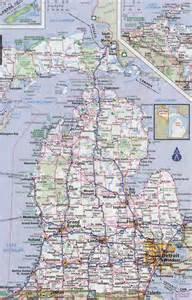 Detailed Map Of Michigan by State Of Michigan Road Map Pictures To Pin On Pinterest