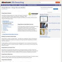pongo resume builder resume resume pearltrees