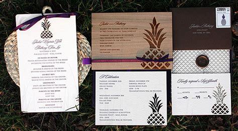 pineapple wedding invitations laser cut pineapple wedding invitations invitation crush