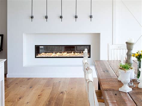 Fireplace Between Two Rooms by Escea Sided Gas Fireplaces