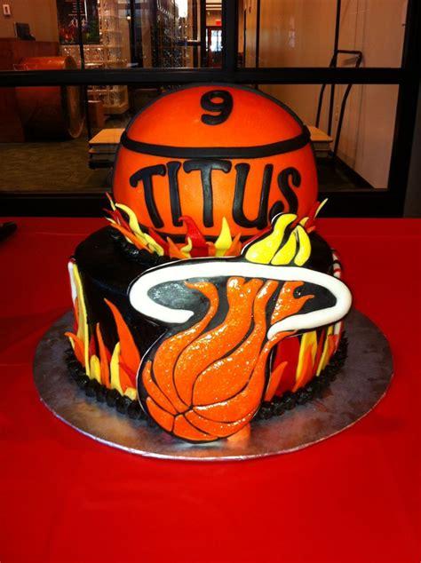 miami heat birthday cake by yumm yumm by and
