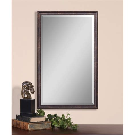 Bathroom Mirrors Uttermost Renzo Vanity Mirror Uttermost Rectangle Mirrors Home Decor