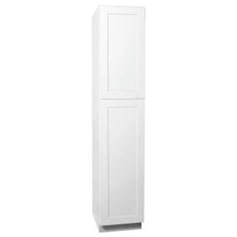 Home Depot Pantry Cabinet White hton bay shaker assembled 18x90x24 in pantry kitchen cabinet in satin white kp1890 ssw the