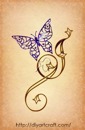 Butterfly Tattoo Letter J | letter j tattoo butterfly cartella tattoo pinterest