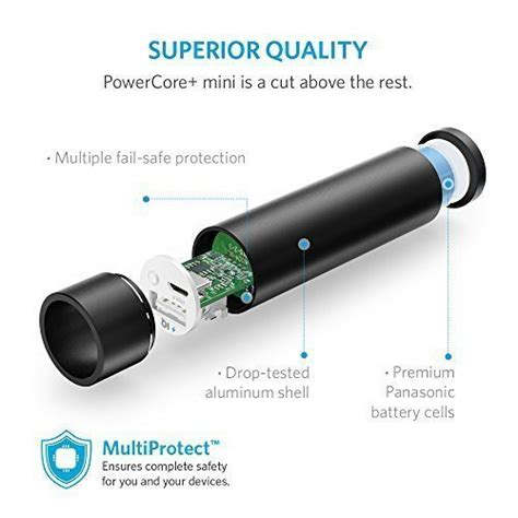 anker powercore mini 3350mah lipstick sized portable charger 3rd generation premium aluminum