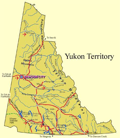 yukon map maps of yukon territory