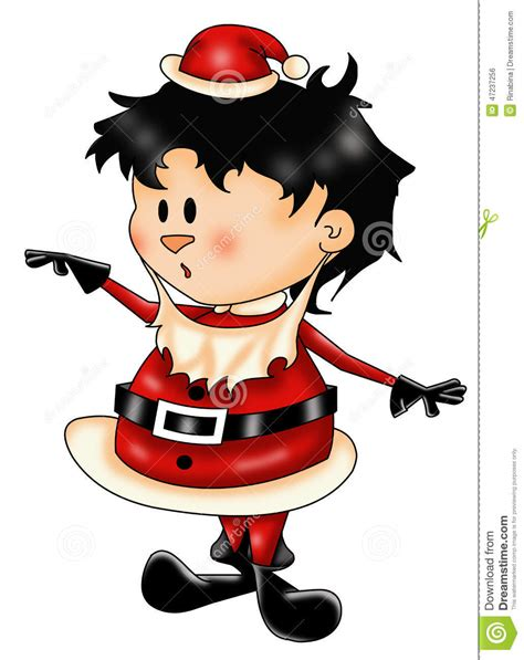 small santa claus stock illustration image of cute