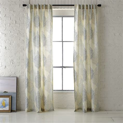 Contemporary Window Curtains with Ambi Printed Window Panel Contemporary Curtains By West Elm
