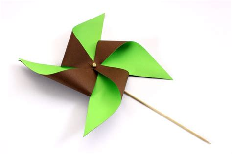 pinwheel paper craft crafts and activities two colored paper pinwheel