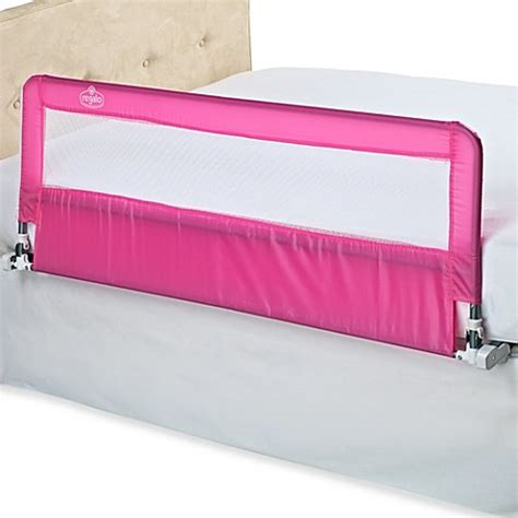 regalo hide away bed rail regalo 174 pink hideaway extra long bed rail buybuy baby