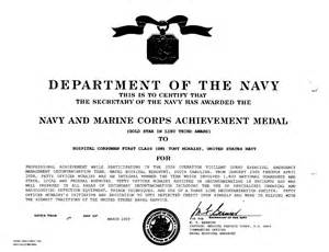 Usmc Certificate Of Commendation Template by Navy Award Exles