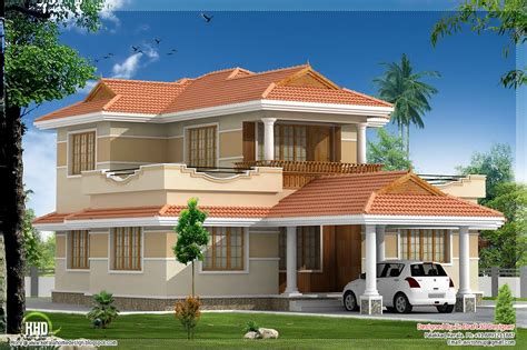 Kerala Model House Plans With Elevation 4 Bedroom Kerala Model Villa Elevation Design Style House 3d Models