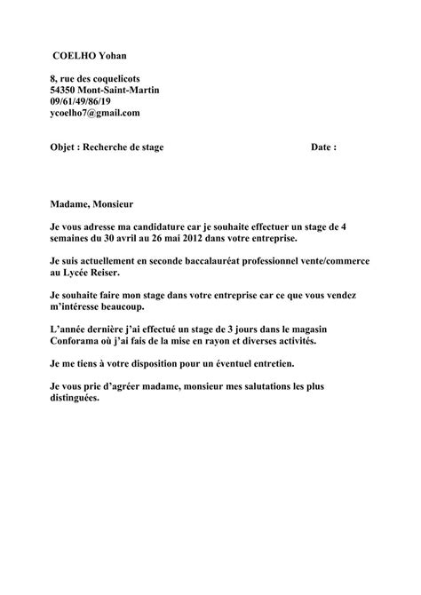 Lettre De Motivation Stage Seconde Assp Lettre De Motivation Stage Bac Pro Assp