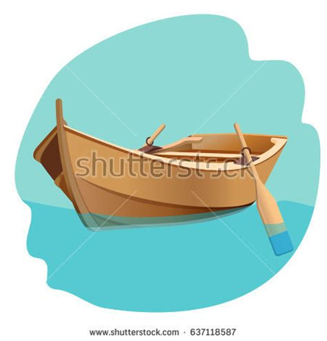 boat oars clip art wooden boat oars vector illustration isolated stock vector