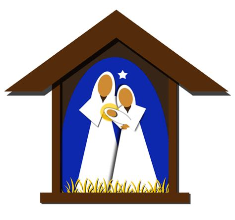 Delightful Baby Boy First Christmas Ornament #4: Free-nativity-clipart-silhouette-free-clipart-images-6.png
