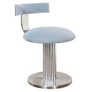 Vanity Stool With Backrest Modernist Klismos Back Swivel Vanity Stool At 1stdibs
