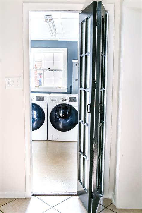 glass doors in laundry room laundry room updates bifold door bless er house