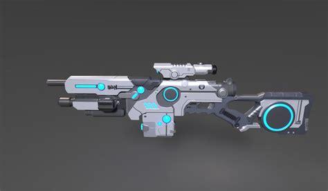 sci fi weapon  model  unknown fbx freed