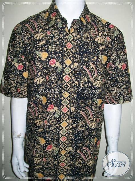 Baju Pria Big Size Baju Batik Jumbo Pria Lengan Pendek Eksklusif Big Size