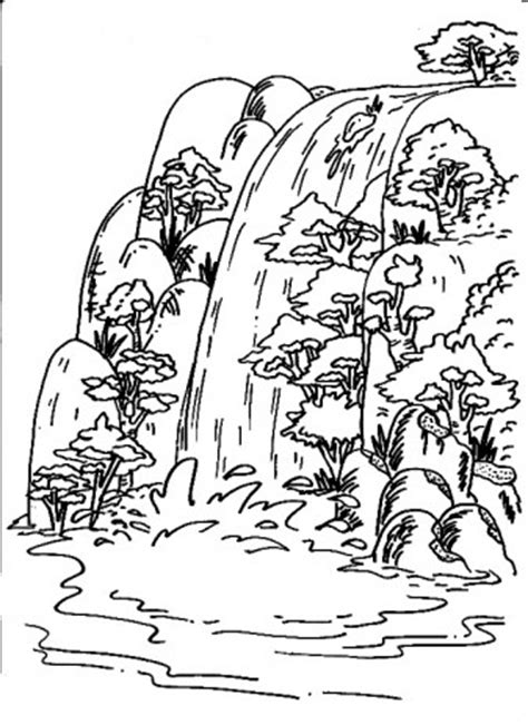 waterfall coloring pages coloring pages for kids waterfall coloring pages for kids