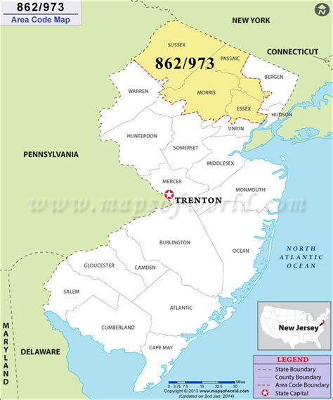 what us area code is 973 973 area code map where is 973 area code in new jersey