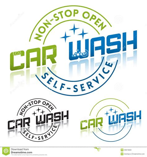 Car Wash Stock Vector Image Of Services Print Logo 33673603 Car Wash Logo Template Free