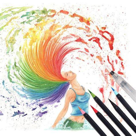 Water Color Pen Set watercolor brush pens 20 set shire