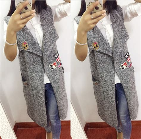 knitting pattern womens sweater vest long knitted vest pattern promotion shop for promotional