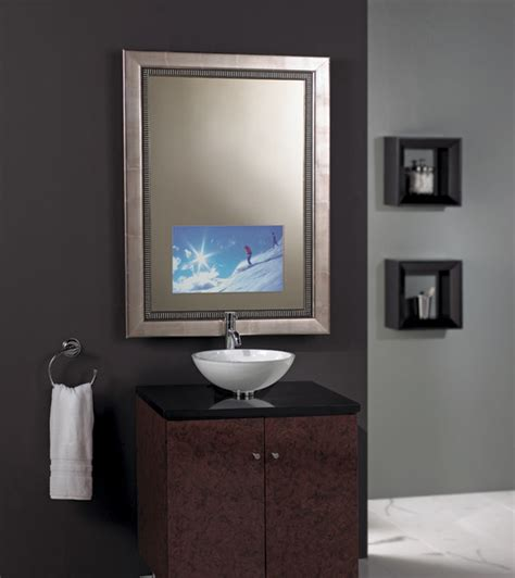 Tv Mirror Bathroom Seura Studio Enhanced Vanishing Television Mirror