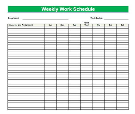 weekly time schedule template blank time sheets for employees printable blank pdf