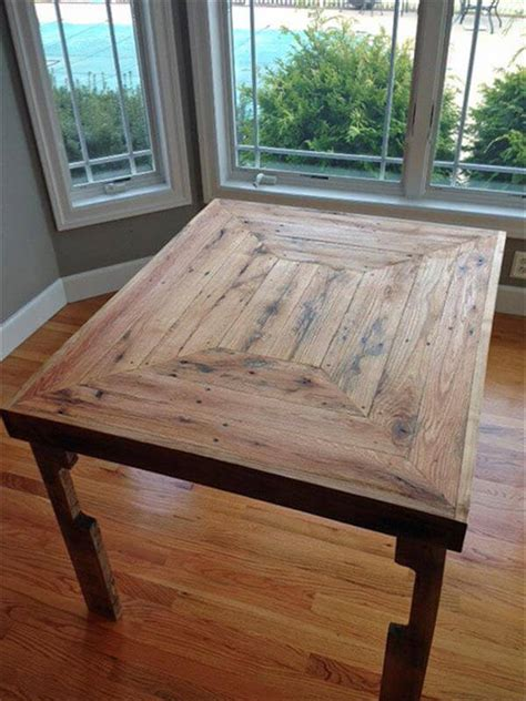 Pallet Dining Table Diy Pallet Wood Dining Table Plan Pallet Furniture Diy