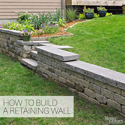 How To Build A Garden Wall On A Slope How To Build A Retaining Wall