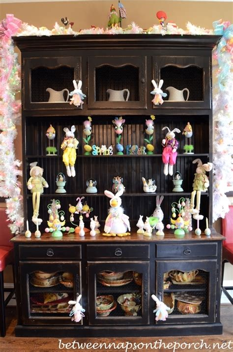 Above Kitchen Cabinet Decorating Ideas by Decorating For Easter And Springtime
