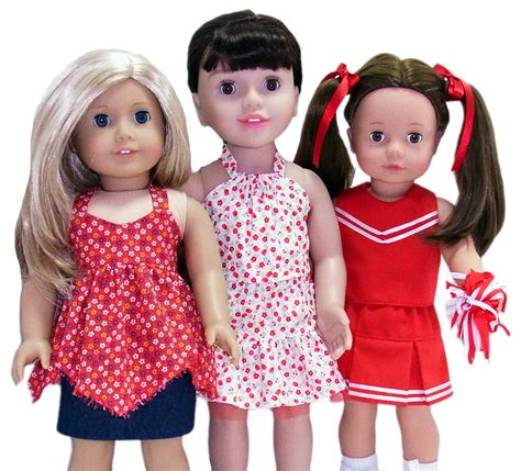 pattern doll clothes 10 inch american girl 3 way skirt