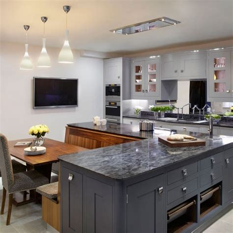 family kitchen design ideas painted family kitchen with dining nook family kitchen