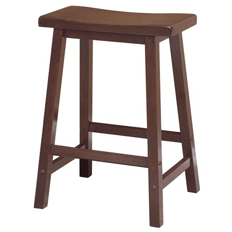 Wood Counter Stools by Winsome Saddle Seat 24 Inch Counter Stool