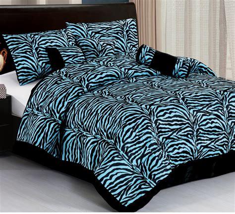 zebra comforter queen 7pc new safarina zebra animal comforter set blue queen